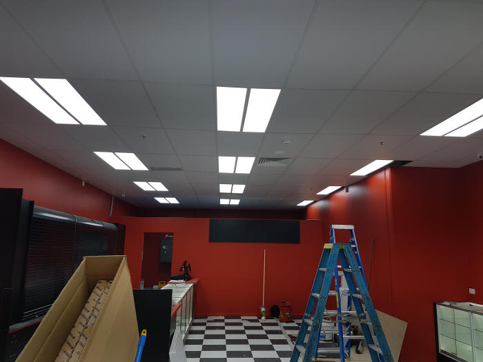 LED Trouph lights at TSG Mackay
